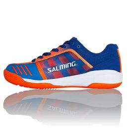 Salming Falco (18) kids shoe, Limoges Blue/Orange Flame
