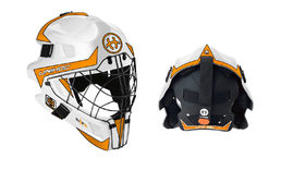 Unihoc Summit 66 Optima - Goalie Mask White-Orange