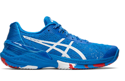 Asics Sky Elite FF L.E indoor shoes, Electric Blue-White