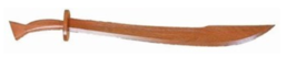 Wood Kung Fu sword Red Oak