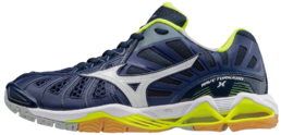 Mizuno Wave Tornado X Blue-Yellow -indoor shoe