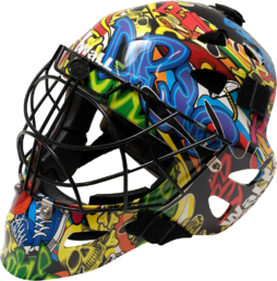 Wall W3F - Graffiti Bomb - Floorball mask
