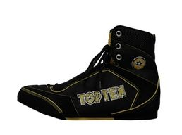 Top Ten Mid Cut Boxing Shoe (Black/Yellow)