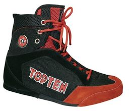Top Ten Mid Cut Boxing Shoe (Black/Red)