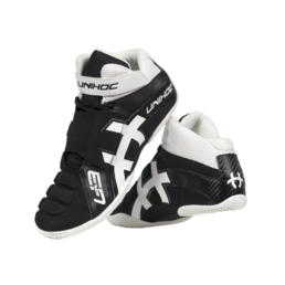 Unihoc U3 Goalie Shoes (Black/White)