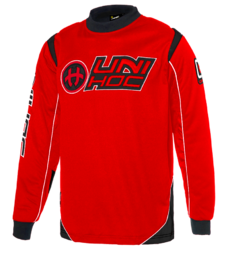 Unihoc Optima Goalie Sweater (Neon Red/Black)