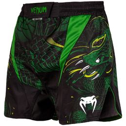 Venum Green Viper Fight Shorts, Black-green