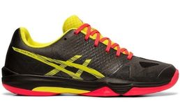 Asics Gel-Fastball 3 (19) indoor shoes, black/sour yuzu W