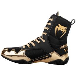 Venum Elite Boxing Shoes, Black-Gold